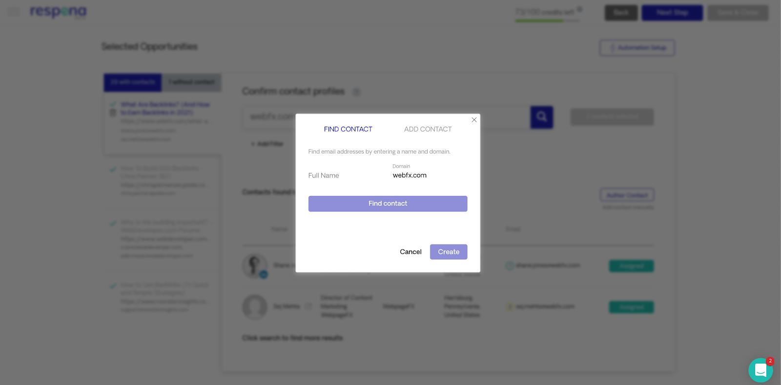 Respona manual email address verification