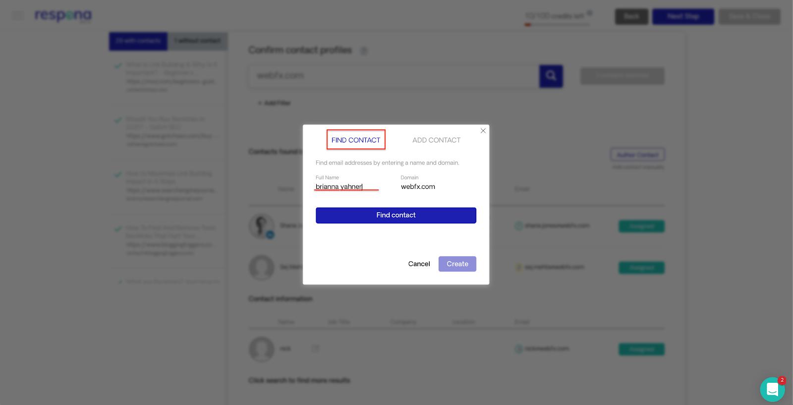 Verifying email addresses