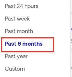 6 month freshness filter