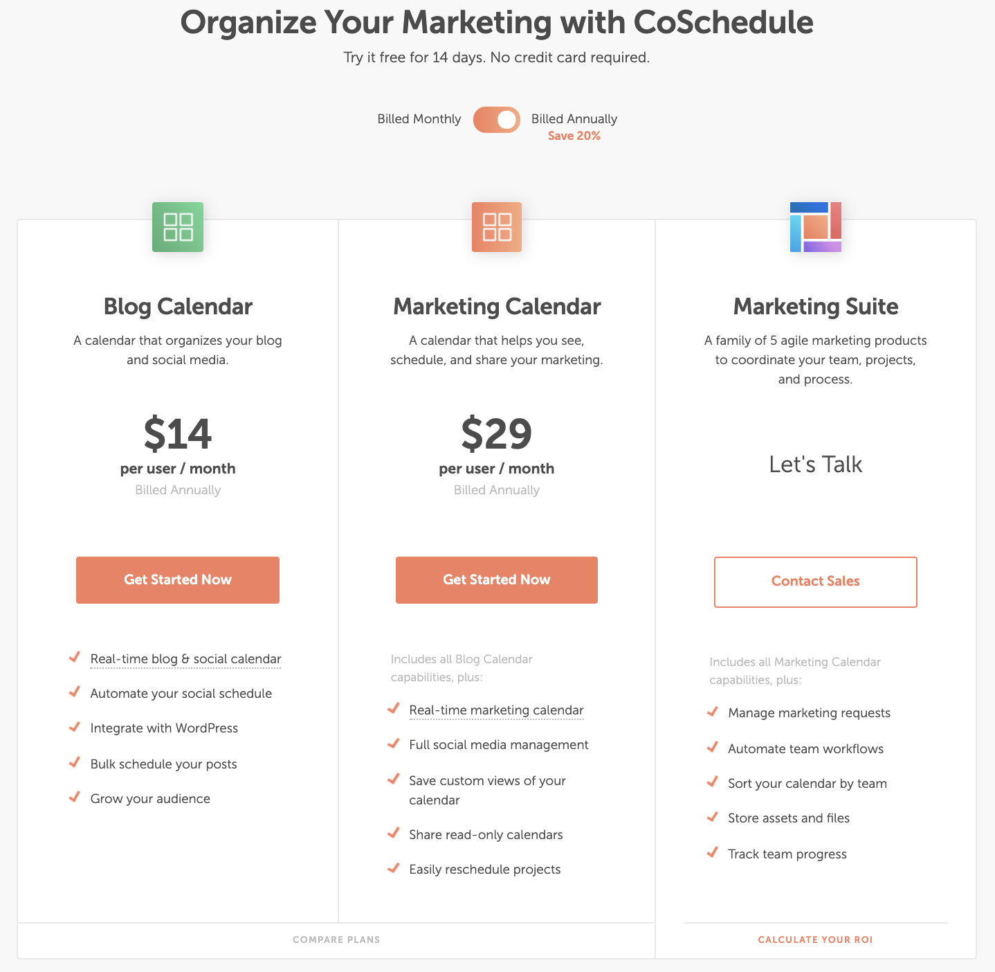 CoSchedule pricing