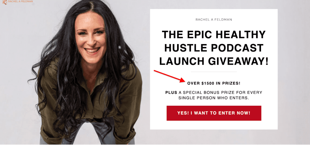 Healthy Hustle podcast popup