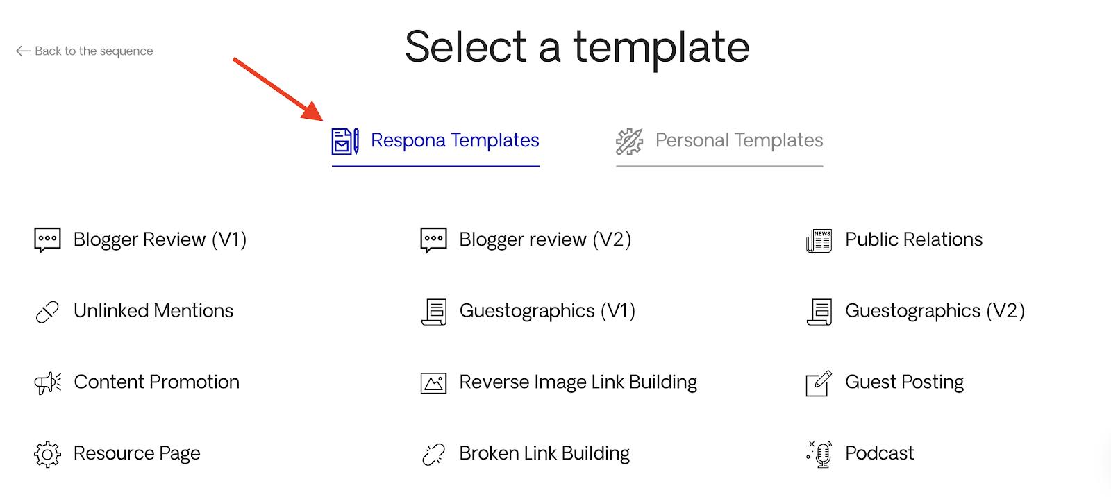 Choosing a template