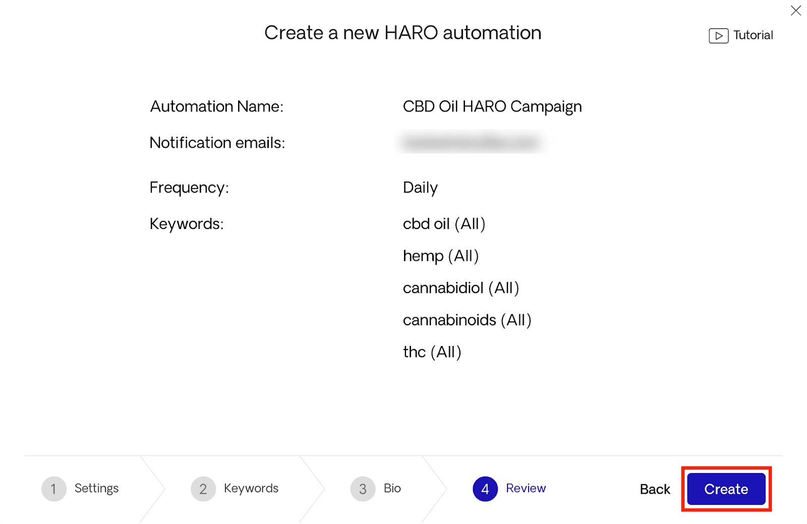 Creating HARO automation