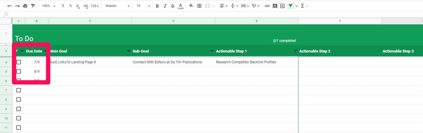 spreadsheet screenshot