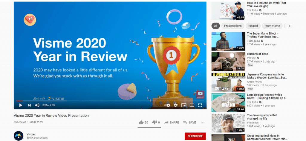 Visme Youtube Video