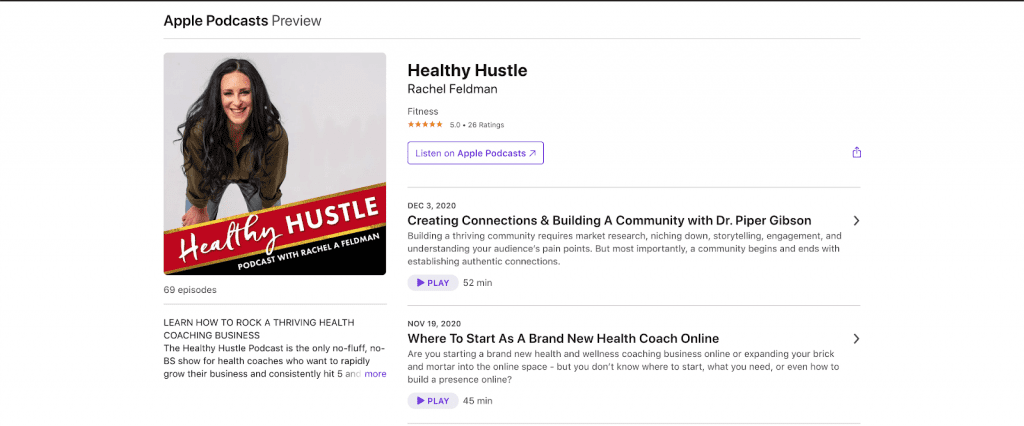 Health Hustle podcast description