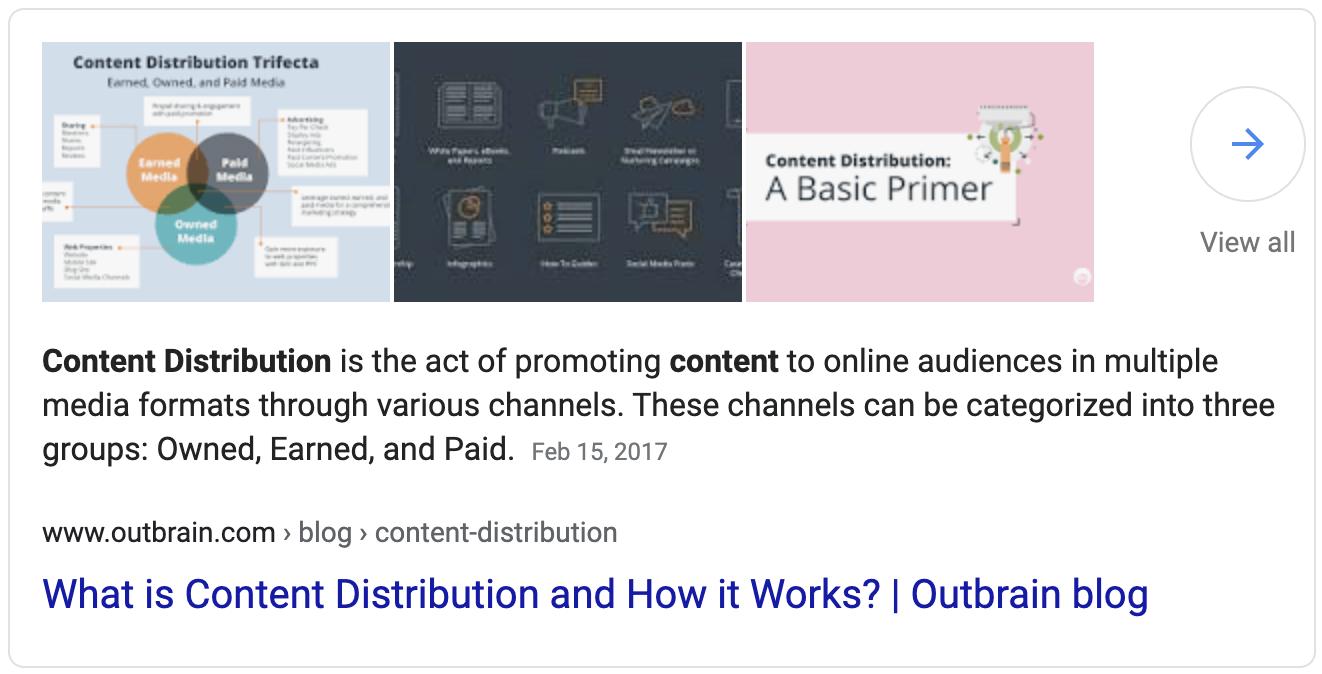 Content distribution definition