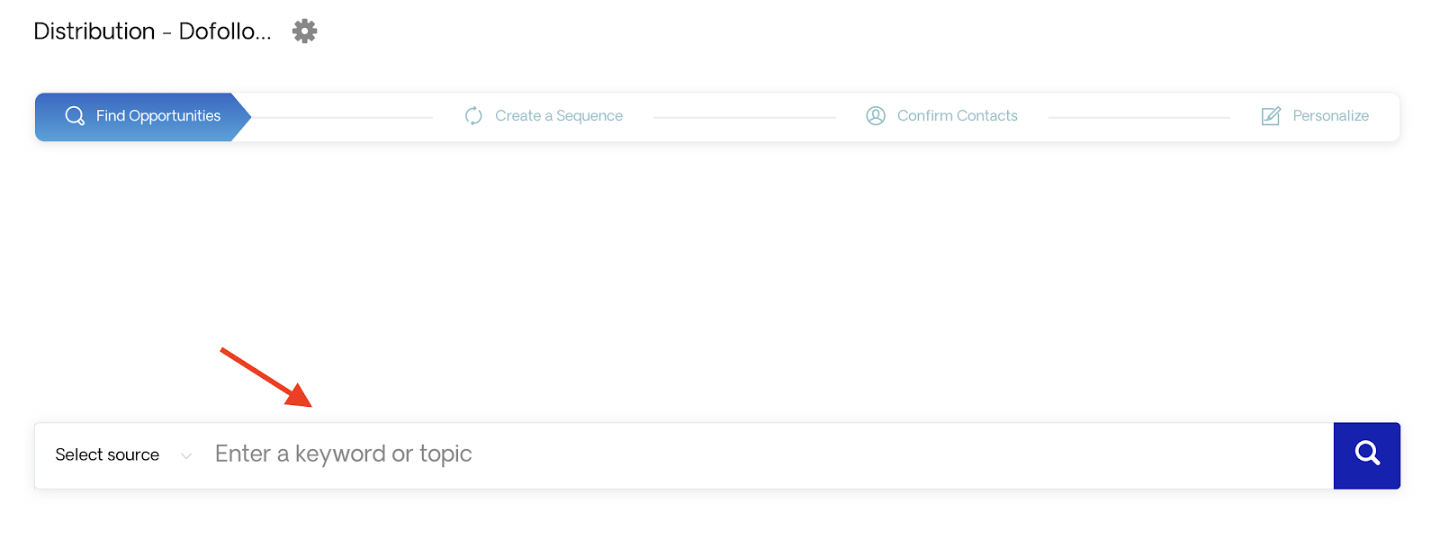 Respona's live search engine