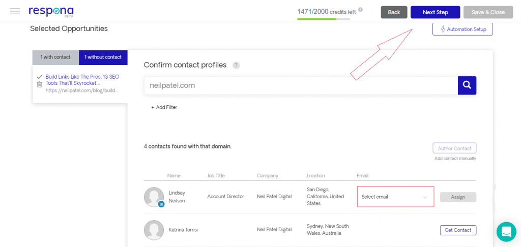 Assigning additional contacts