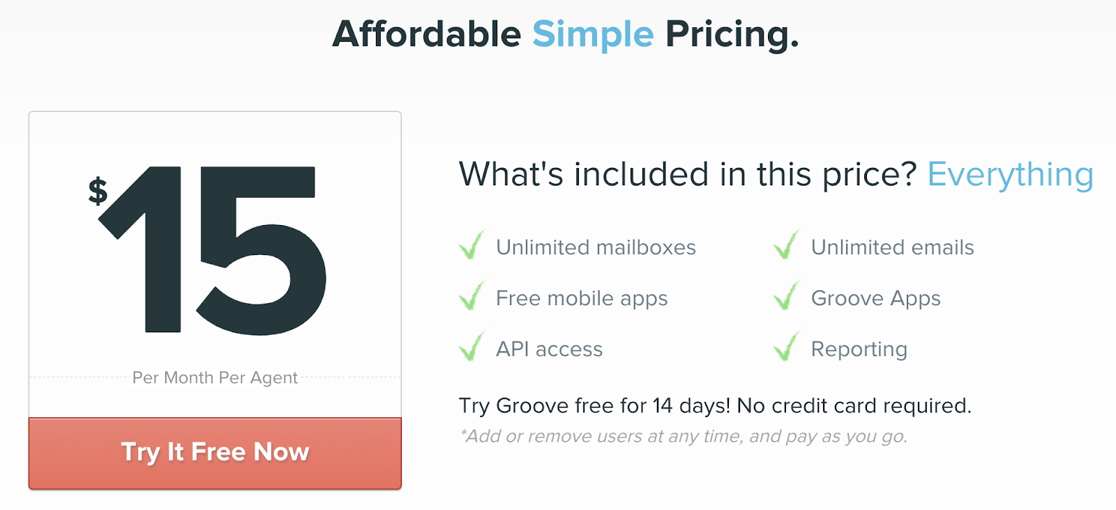 Example of SaaS pricing