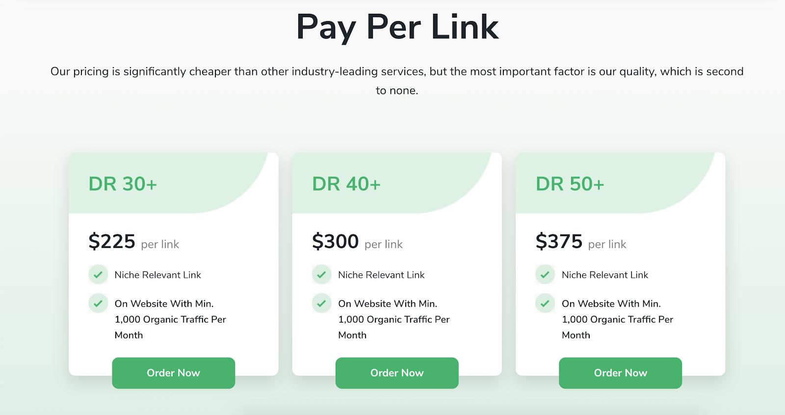 LinkBuilder.io price per link